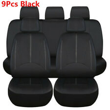Waterproof Universal Car 5 Seat Full Set Front Rear Seat Covers Protector Black
