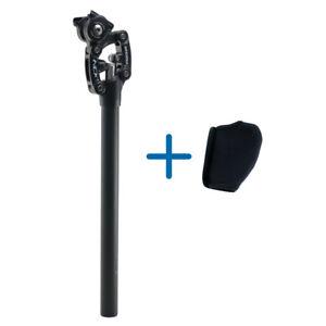 SR Suntour SP12 NCX 27.2X350mm Suspension Seat Post with Protective Cover, Black