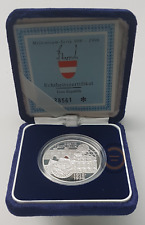 Münze 100 Schilling Österreich Jahr 1995 Silber Proof Erste Republik Certified