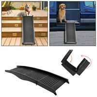 Folding Dog Pet Ramp Car Truck SUV Backseat Stair Steps Auto Travel Ladder 60""