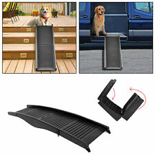 Folding Dog Pet Ramp Car Truck SUV Backseat Stair Steps Auto Travel Ladder 60