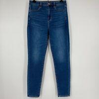 American Eagle Jeans Super High Rise Jegging Medium Wash Stretch Size 10