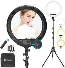 WISAMIC Ring Light 18 inch with Stand and Phone Holder, Bi-Color Dimmable 2800K