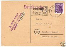 Drucksachenkarte, Mi.-Nr. Einheit 944  EF, interss. Absender, Berlin SW 11, 1948