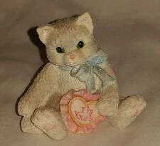 Enesco Calico Kittens I'm Yours Glass figurine Cat figure kitty