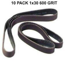 1x30 - 600 Grit 10 Pack -Premium Silicon Carbide Knife Sharpening Belts Med-Fine