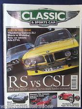 CLASSIC & SPORTS CAR Magazine Dec 1998 RS FORD CAPRI vs BMW CSL. ALFA GTV6.