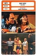 FICHE CINEMA : FAT CITY - Keach,Bridges,Huston 1971 La Dernière Chance