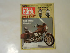 OCTOBER 1984 CYCLE GUIDE MAGAZINE,HARLEY FXRT BELT DRIVE BOMBER,BMW DUAL TEST