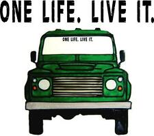 LAND ROVER ONE LIFE DEFENDER DISCOVERY STICKER 4X4 OFF ROAD CUSTOM DECALS