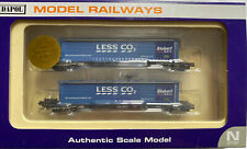 Dapol N Gauge Megafret Weathered + 2x 45ft Containers - Less CO2 and Malcolm 11