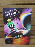 Marvin The Martian Birthday Card Glitter Vintage 1998 Looney Tunes Hallmark NEW