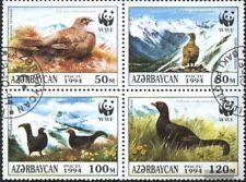 Aserbaidschan 161-164 Viererblock (kompl.Ausg.) gestempelt 1994 Kaukasisches Bir