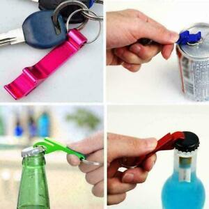 1pcs Random Beer Bottle Can Opener Beverage Keychain Pocket Ring Bar V3K7 K0Z6