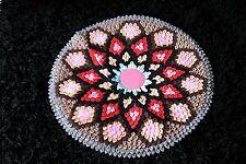 Handmade Fabric Round Rug Door Wall Decor Mat Circular None Braided Rug 50cm D3
