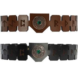 Viking Rune Leather Headband - Viking Accessory