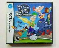 Phineas and Ferb: Across the 2nd Dimens Nintendo DS DS Lite 3DS 2DS Game Works !