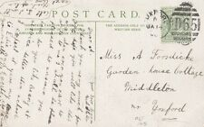 YOXFORD :1908 D65   numeral cancel on picture postcard