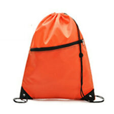 Unisex String Drawstring Backpack Cinch Sack School Tote Gym Bag Shoe Sport Pack