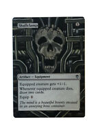 Skullclamp ALTERED ART MTG EDH Hand Painted Commander Staple