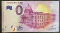 BILLET 0  EURO  BERLINER SCHLOSS 2 ALLEMAGNE  2017  NUMERO 100