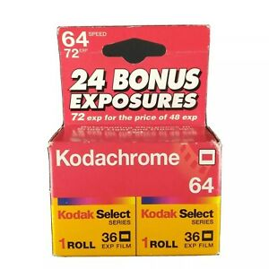 Kodachrome Kodak Color Slide Film ISO 64 Exp 36 Expired 2001 2x [2326]