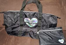 Victoria's Secret FASHION SHOW 2014 Large Zippered Tote Bag & Pouch BLACK NEW