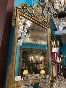 French, Louis XVI Gilded Mirror from Aix-en-Provence, Circa 1790.