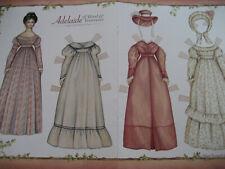 Vtg Karen Prince ADELAIDE Wood Doll Paper Doll / UNCUT