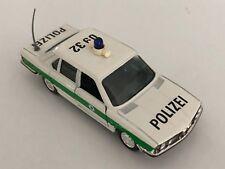 "GAMA BMW 528i E28 White & Green ""Polizei"" 1:43 scale diecast model # 1155"