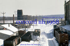"Boston & Maine RR Jordan Spreader  Concord NH Jan 1968  4x6"" photo"