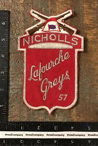 Vtg Nicholls Lafourche Greys Louisiana Gun Club Patch LA
