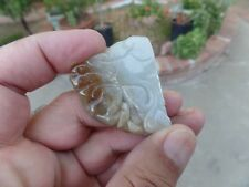 TESTED 100% NATURAL JADEITE, RUSSET JADE, BAT CARVED, PENDANT