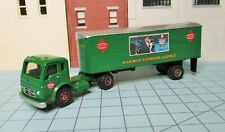HO scale tractor trailer, Imex, REA, IH cab over, 28 foot van.