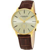 Stuhrling Original Men's Maestro 40mm Brown Leather Band Quartz Watch 849.04