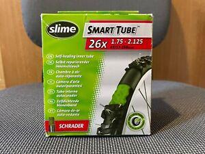 """New Slime Smart Self Sealing Bike Inner Tube 26"""" x 1.75 - 2.125 - Schrader Valve"""