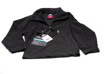 Trespass Boys/Girls   1/4 Zip Micro Fleece Black