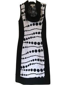 Joseph Ribkoff Designer Dress Black/white Size CAN/USA 10