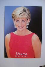 192) PRINCESS DIANA 1961-1997~ DIANA IN A BEAUTIFUL RED DRESS WITH HER EARRINGS