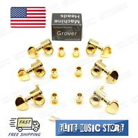 Set of 6 (3x3) GOLD Grover 102-18G Rotomatic 18:1 Guitar Machine Head Tuners US