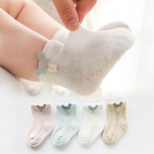 Baby Socks Summer Mesh Breathable Cotton Infant Socks Kids Boys Girl AU Seller