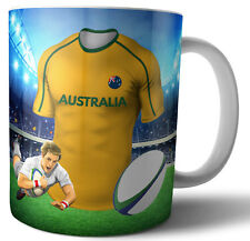 Australia - Rugby Themed Mug - Birthday - Christmas - Stocking Filler - Gift