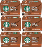 60 K Cups Starbucks House Blend Medium Roast Ground Coffee 6/10 CT BBD 1/20