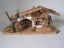 Holzhaus, Stall, Weihnachtsdekoration, Weihnachtskrippe, Krippen-Stall