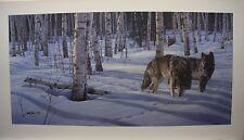 """Daniel SMITH LTD art print """" When Paths Cross """" Wolves MINT in folder COA Wolf"""