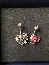 Belly Bars Body Piercings X2 Used