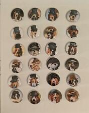 "Wholesale Collectable Set (24) 1.25"" Pinback Button Badge Steampunk Dogs 1¼"""