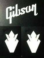 Gibson Guitar Headstock Inlay, Crown, Die-Cut Decal OEM High Gloss White Luthier