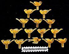 30 YELLOW GOLD MEDiUM DOVE BiRD LiGHT PEG TWiST VtG CERAMiC CHRiSTMAS TREE BULB