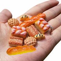 New 6PCS Miniature Bread Toast Kitchen Food Bakery For 1:12 Dollhouse Pastr B4C8